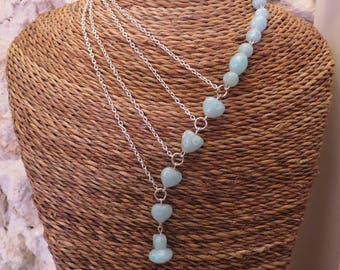 Gorgeous silver multi beads necklace