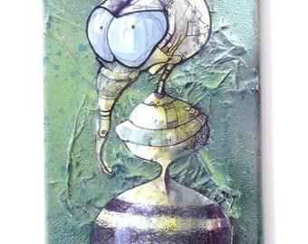 Skate spray - painted crinkle bee