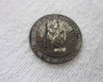 Antique Catholic St Christopher's My Guide Medal