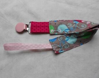 girl pacifier clip
