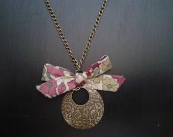 bronze necklace chain, bronze medallion, liberty node