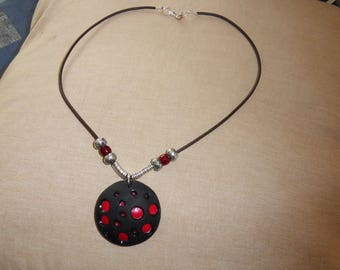 wire aluminum polymer clay necklace