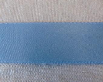 Satin ribbon, blue iris, width 25 mm (S-262)