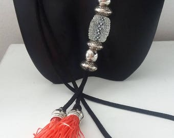 Necklace with beads and tassels