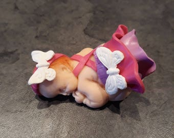 Baby butterfly fimo clay