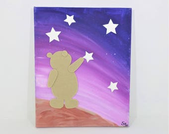 """Table """"Bear in the stars"""", pink"""