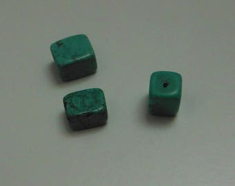 Rectangle TURQUOISE bead