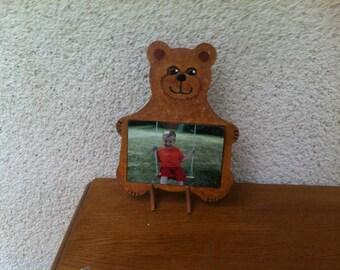 Bear photo holder frame