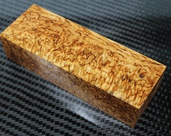 1 PCS Stabilized Curly Birch stabilized Karelian birch wood 5×1,9×1,2""