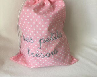 Bag child or baby or small with text or personalized name