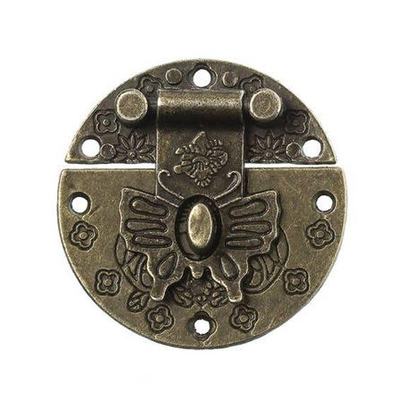 1 clasp set - bronze - size: 39 mm