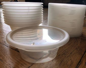 CHEAP Slime Containers, (can be used for Food, Sauces etc) 4oz and 8oz