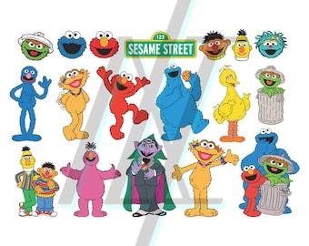 Sesame Street Svg, Sesame Street Svg File, Sesame Street Svg Bundle, Sesame Street Silhouette, Elmo SVG, Big Bird SVG, Ernie SVG, Kermit