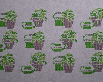 Garden green embroidery