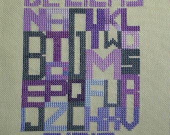Purple primer embroidery