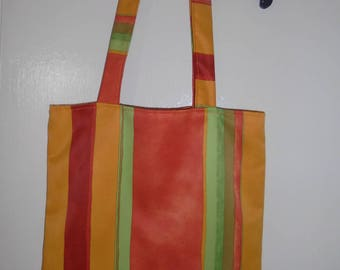 Large tote or beach bag, fully lined fabric bag