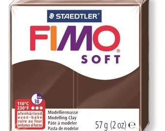 Fimo Soft 57 g - chocolate N 75 - Ref 68020075
