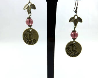Earrings nature and spring Blossom