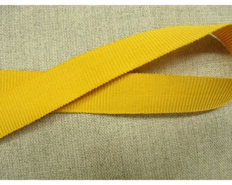 Ribbon gros grain-15 mm - mustard yellow