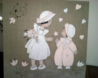 Decorative painting for baby and girl room