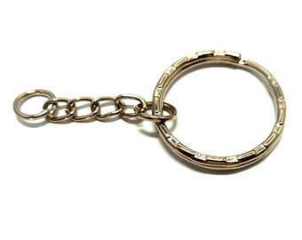 Silver plated 25 mm key ring