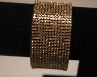 Beautiful rhinestone Gold Bracelet with magnetic clasp