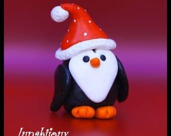 Polymer Clay figurine Christmas jewelry gift