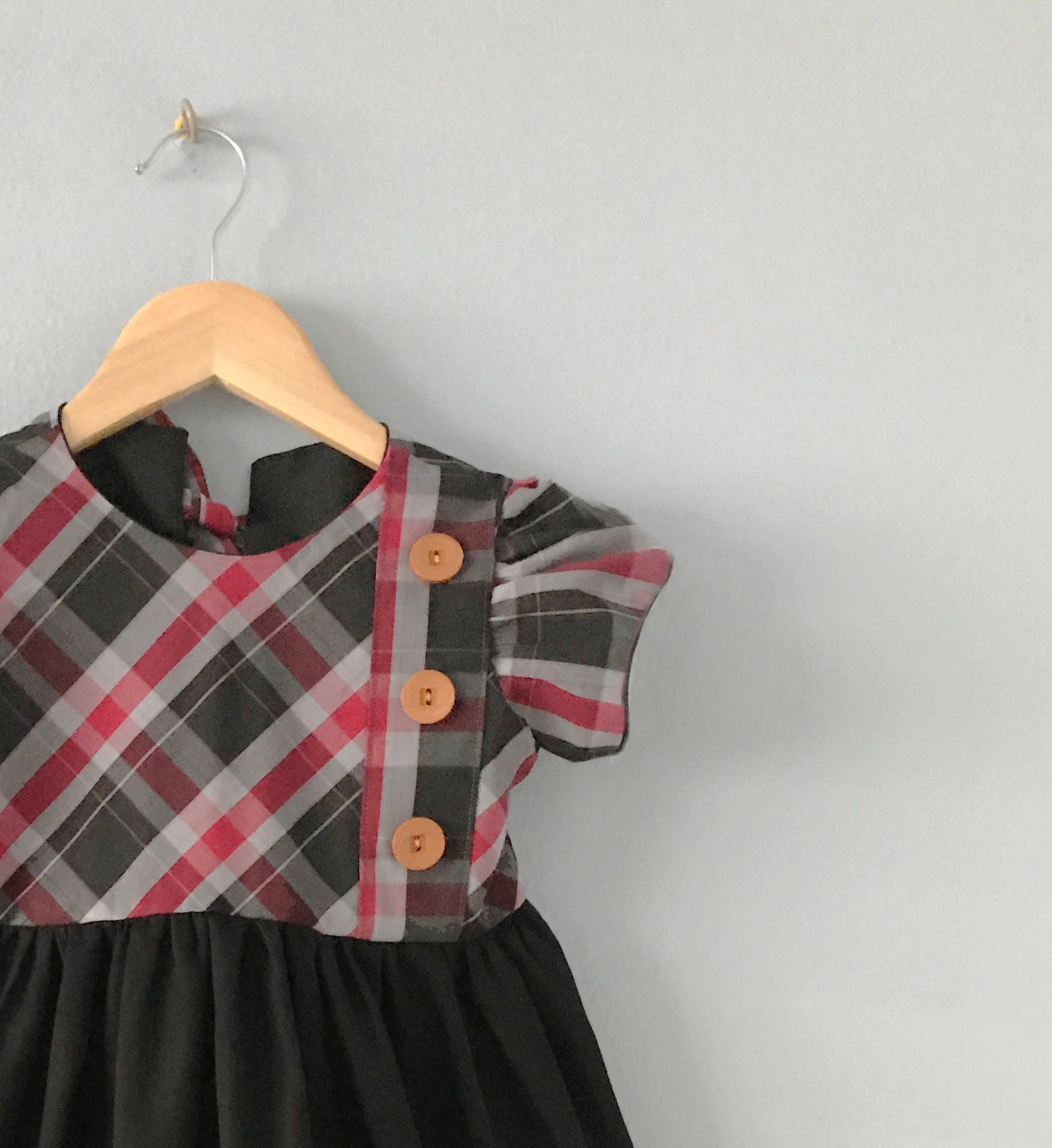 raspite girls dress girls plaid dress girls holiday dress toddler girls plaid christmas dress