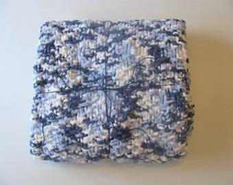 Navy Blue Knit Baby Blanket