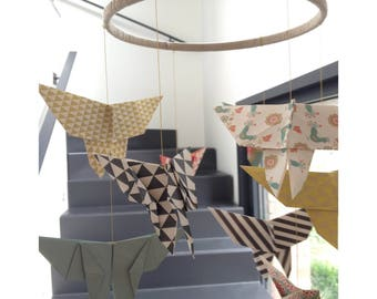 Mobile / hanging in origami