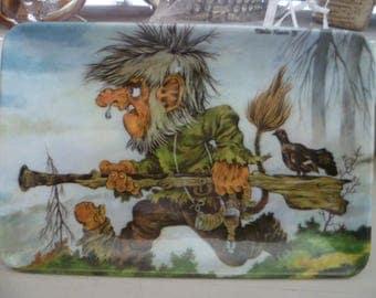 Vintage Retro Scandinavian Sturla Kaasa Troll Melamine Tray 1975