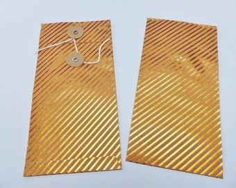 1 rectangular bright orange stripe and Japanese closing kraft cover envelope
