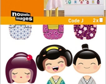 WALL DECALS OR KIDS FURNITURE * KOKESHI DOLLS * 2 BOARDS