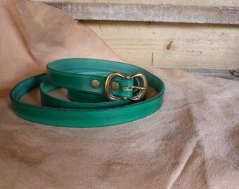 Pretty green belt buckle