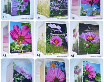 Lot de 9 cartes doubles d'anniversaire faites main personnalisables de Céline Photos Art Nature