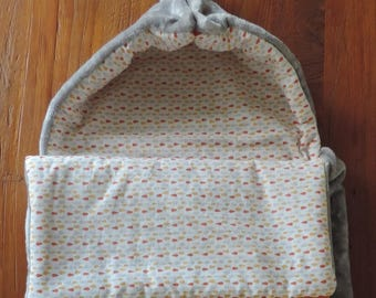 Bunting gray Teddy bear fabric