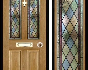 custom made stained glass door panels