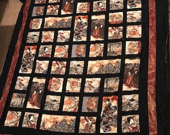 Asian Inspired Quilt / Blanket