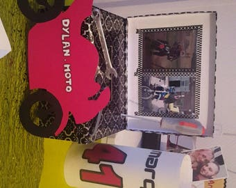 handmade envelope themed gift box