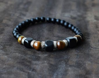 Men's Beaded Bracelets, Men's Bracelet, Men's Energy Bracelet, Tiger Eye Bracelet For Men  , Men's Energy Bracelet, Men Bracelet Gift
