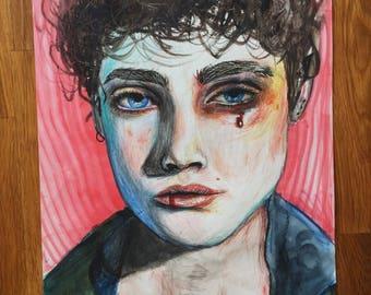 Handmade portrait - print