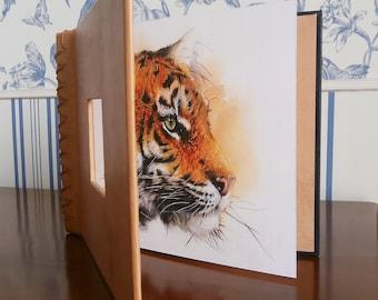 Watercolor Tiger 22.8 book X 18 cm