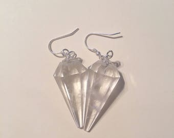 Crystal Quartz Pendulum Earrings