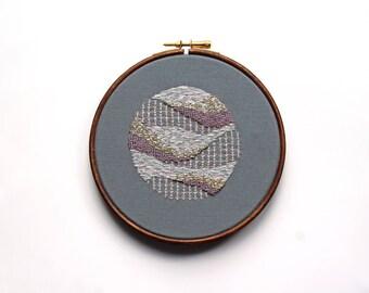 "Aurora 5"" embroidery art"