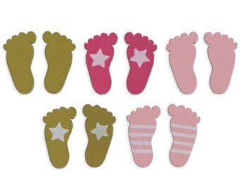 Shapes in wood Color factory - baby blue foot and taupe - 26 pcs - new