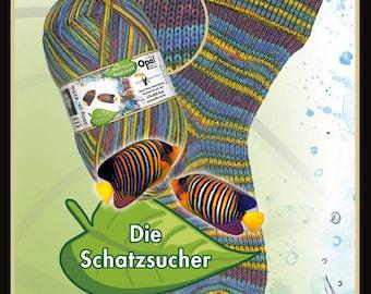 "Opal sock yarn ""adventure rainforest XIII"" F 9460 (the treasure hunter), 6 threads"