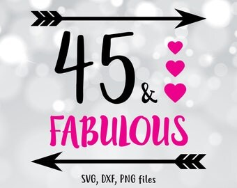 45 and fabulous | Etsy
