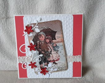 Vintage style new year's card