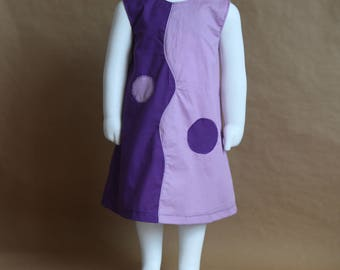 Any hesitation and Parma violet - dress girl 2 years