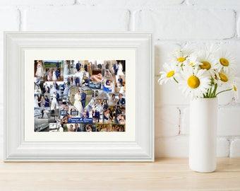 Large Wedding Merged Photo Collage  Wedding Photo Collage, Wedding Gift, Wedding Keepsake